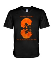 Bigfoot Saw Me But Nobody Believes Him 2 V-Neck T-Shirt thumbnail