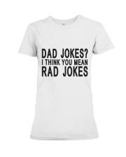 Dad Jokes Premium Fit Ladies Tee thumbnail