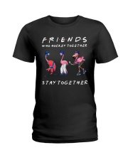 Friends Who Hockey Together Ladies T-Shirt thumbnail