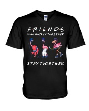 Friends Who Hockey Together V-Neck T-Shirt thumbnail