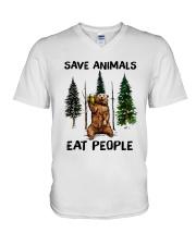 Save Animals V-Neck T-Shirt thumbnail