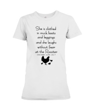 She Is Clothed In Much Books Premium Fit Ladies Tee thumbnail