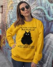 God Made A Cat Crewneck Sweatshirt lifestyle-unisex-sweatshirt-front-3