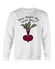 You Make My Heart Beet Crewneck Sweatshirt thumbnail