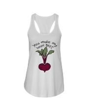 You Make My Heart Beet Ladies Flowy Tank thumbnail