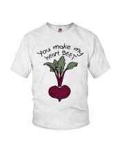 You Make My Heart Beet Youth T-Shirt thumbnail