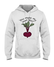 You Make My Heart Beet Hooded Sweatshirt thumbnail