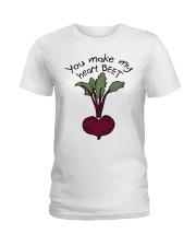 You Make My Heart Beet Ladies T-Shirt thumbnail