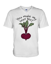 You Make My Heart Beet V-Neck T-Shirt thumbnail