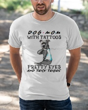 Dog Mom With Tattoos Classic T-Shirt apparel-classic-tshirt-lifestyle-front-50