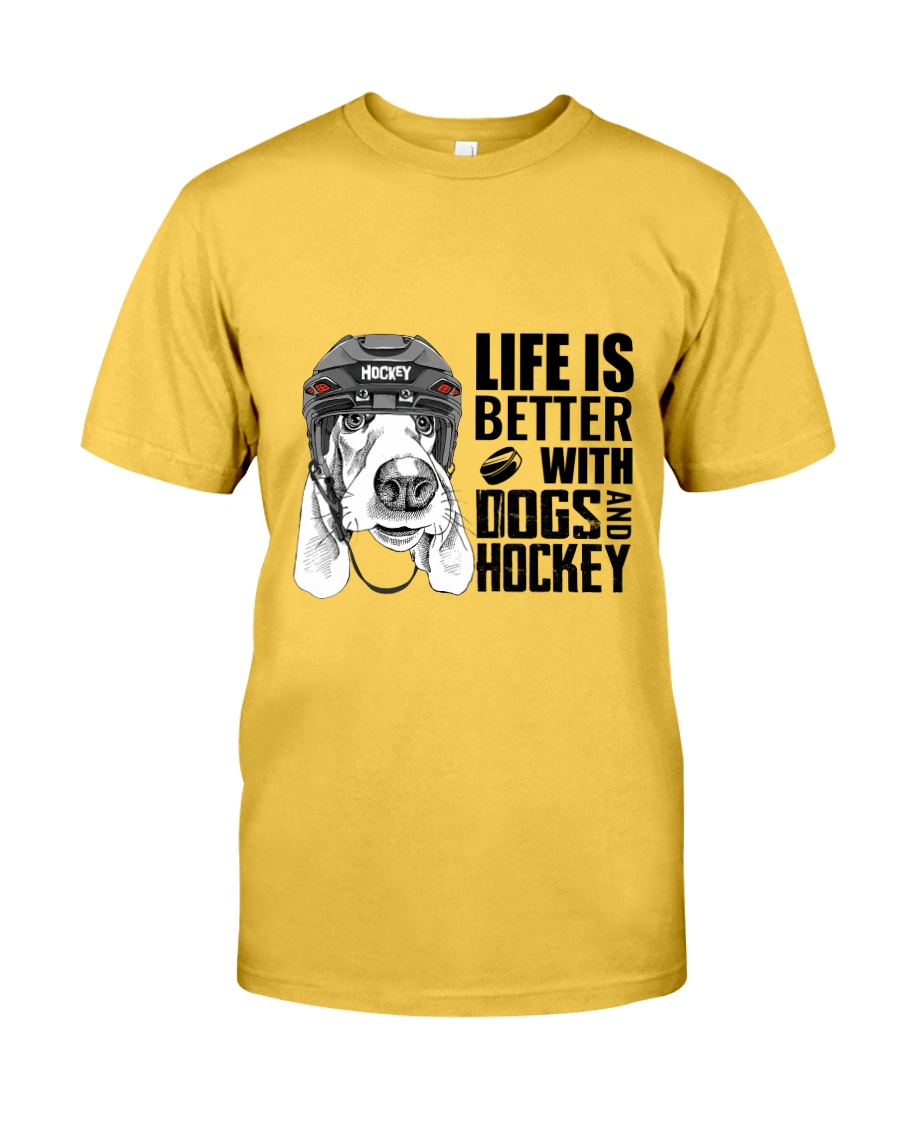 Dogs And Hockey Classic T-Shirt