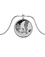 Get In Loser Metallic Circle Necklace thumbnail