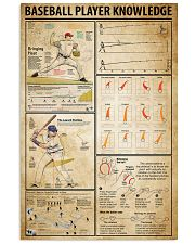 Baseball Player Knowledge 11x17 Poster front