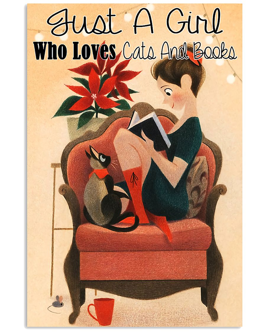 Loves Cats And Books 11x17 Poster