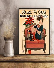 Loves Cats And Books 11x17 Poster lifestyle-poster-3