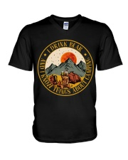 I Know Things About Camping V-Neck T-Shirt thumbnail