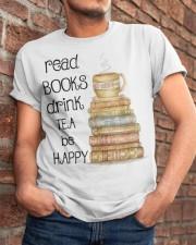 Read Books Drink Tea Be Happy Classic T-Shirt apparel-classic-tshirt-lifestyle-26