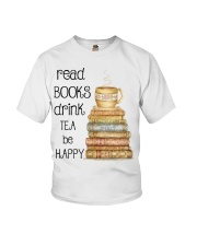 Read Books Drink Tea Be Happy Youth T-Shirt thumbnail