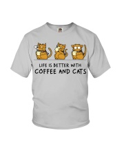 Coffee And Cats Youth T-Shirt tile