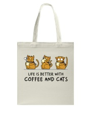 Coffee And Cats Tote Bag thumbnail