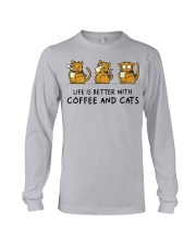 Coffee And Cats Long Sleeve Tee tile