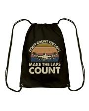 Make The Laps Count Drawstring Bag thumbnail