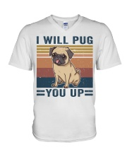 I Will Pug You Up V-Neck T-Shirt thumbnail