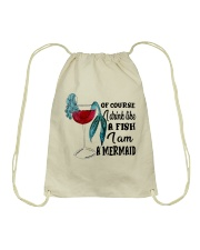 I Drink Like A Fish Drawstring Bag thumbnail
