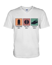 The Pill And Crocs V-Neck T-Shirt tile
