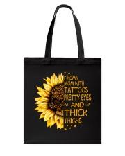 F Bomb Mom With Tattoos Tote Bag thumbnail