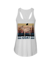 Goat Funny Ladies Flowy Tank tile