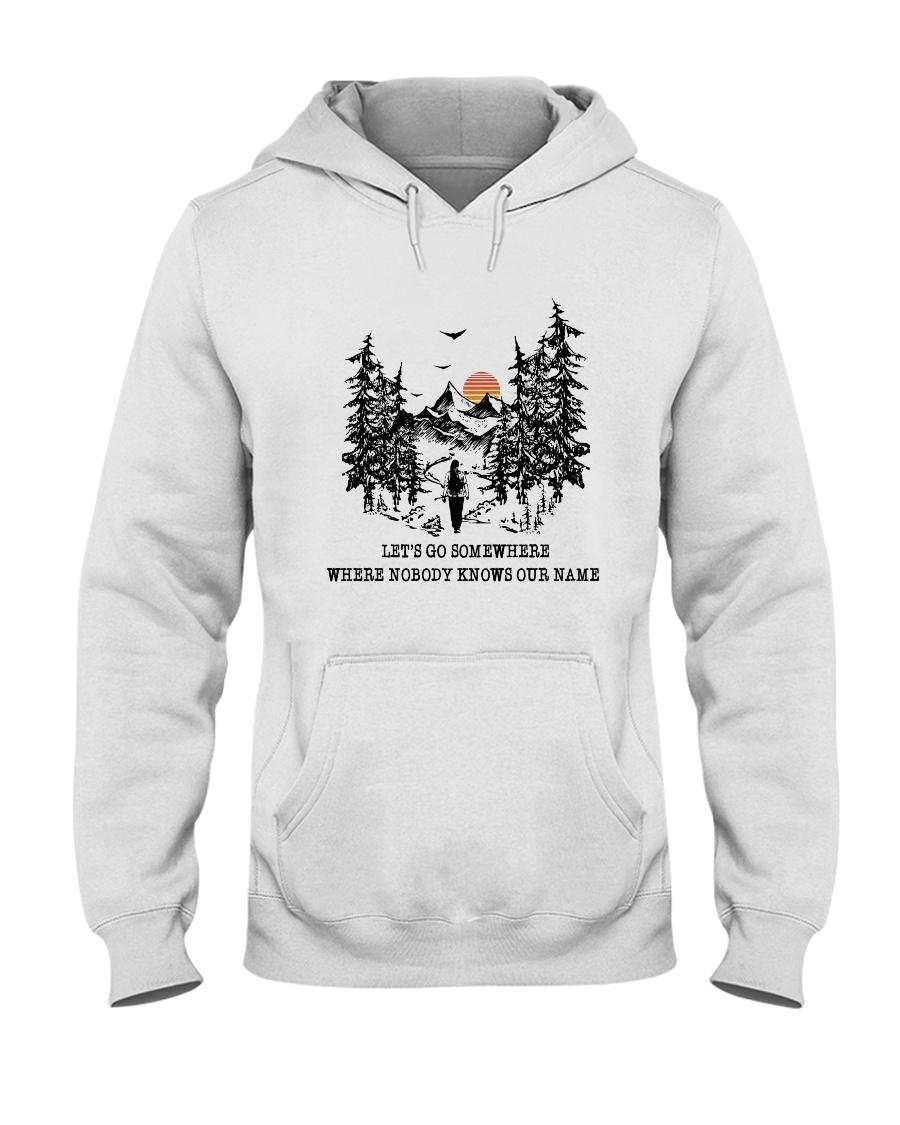 Lets Go Somewhere Hooded Sweatshirt