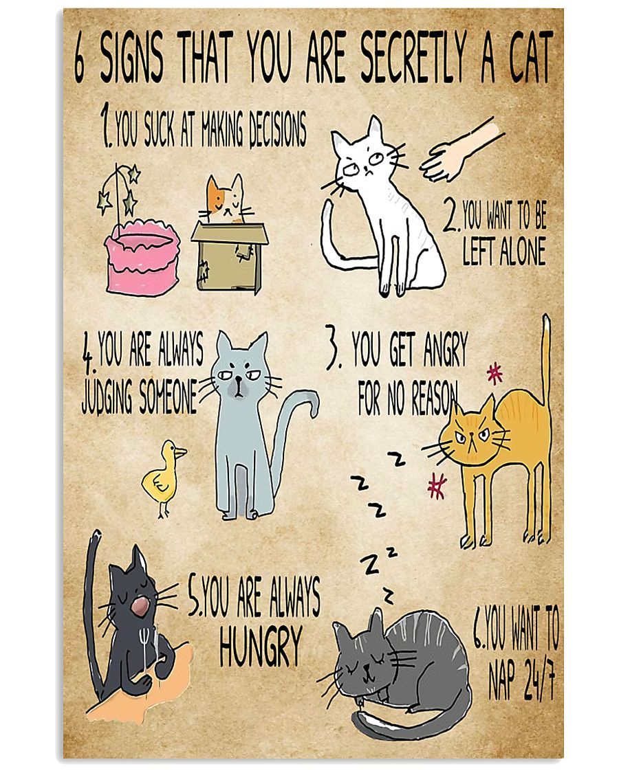 6 Signs That You're Secretly A Cat  11x17 Poster