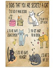 6 Signs That You're Secretly A Cat  11x17 Poster front