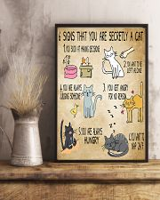 6 Signs That You're Secretly A Cat  11x17 Poster lifestyle-poster-3
