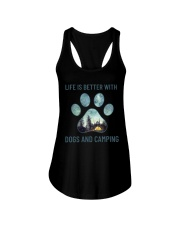 Dogs And Camping Ladies Flowy Tank thumbnail