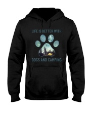 Dogs And Camping Hooded Sweatshirt thumbnail