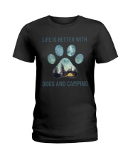 Dogs And Camping Ladies T-Shirt thumbnail