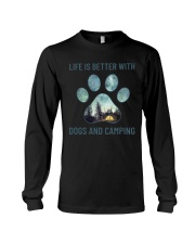 Dogs And Camping Long Sleeve Tee thumbnail