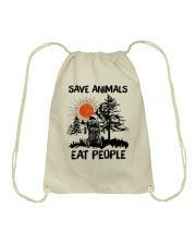 Save Animals Drawstring Bag thumbnail