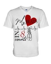 My Beats In 8 Counts V-Neck T-Shirt thumbnail