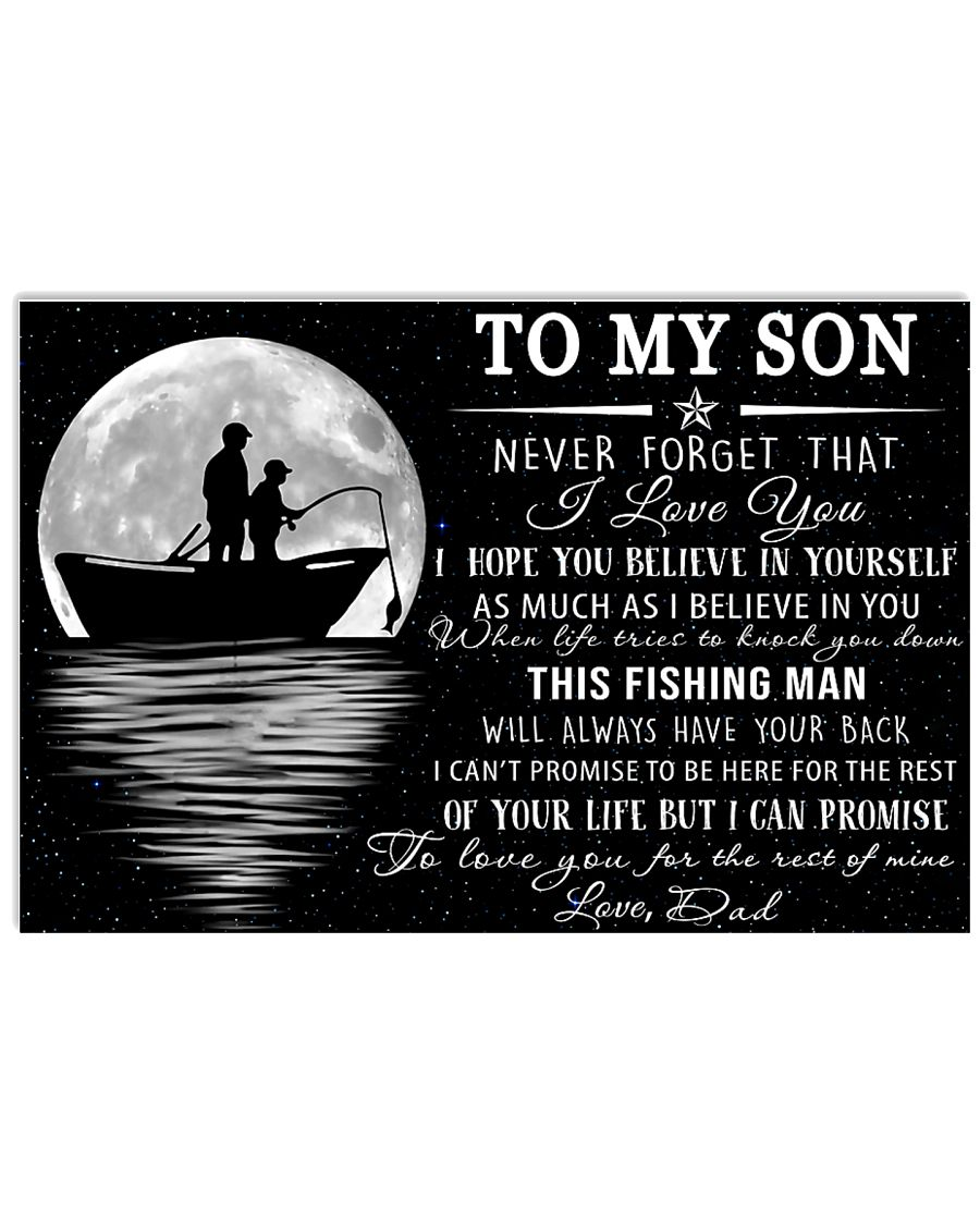 To My Son 17x11 Poster