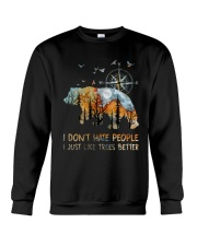 I Don't Hate Peopple Crewneck Sweatshirt thumbnail