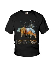 I Don't Hate Peopple Youth T-Shirt tile