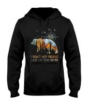 I Don't Hate Peopple Hooded Sweatshirt thumbnail