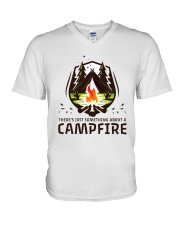 A Campfire V-Neck T-Shirt tile
