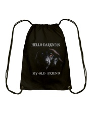 Hello Darkness My Old Friend Drawstring Bag tile