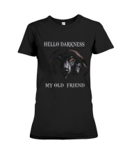 Hello Darkness My Old Friend Premium Fit Ladies Tee thumbnail