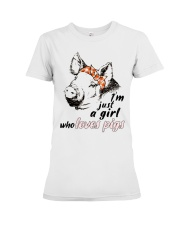 Just A Girl Who Loves Pigs Premium Fit Ladies Tee thumbnail