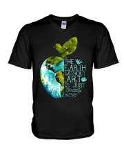 The Earth Without Art V-Neck T-Shirt thumbnail